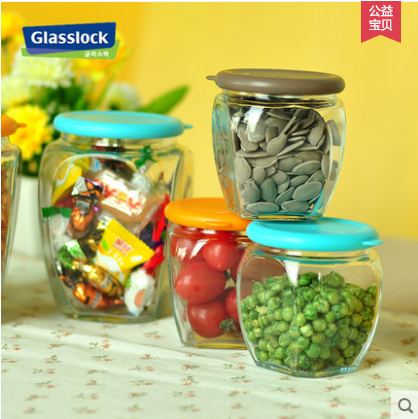 Glasslock玻璃罐玻璃瓶带盖茶叶罐奶粉瓶食品密封罐